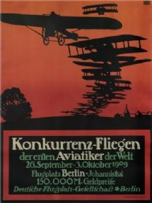Vintage German poster-  konkurrenz-flegion 1909